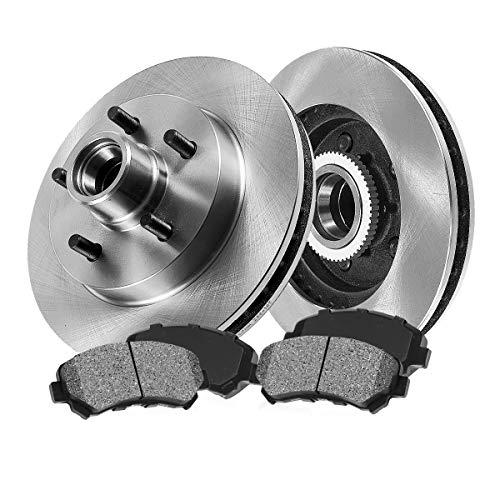 [ RWD ] FRONT 308 mm Premium OE 5 Lug [2] Brake Disc Rotors + [4] Metallic Brake...