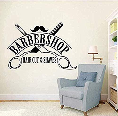 Herramientas de peluquería pegatinas de pared creativas estilo increíble salón de peluquería sala de estar dormitorio decoración del hogar pegatinas de pared 58cmX86cm