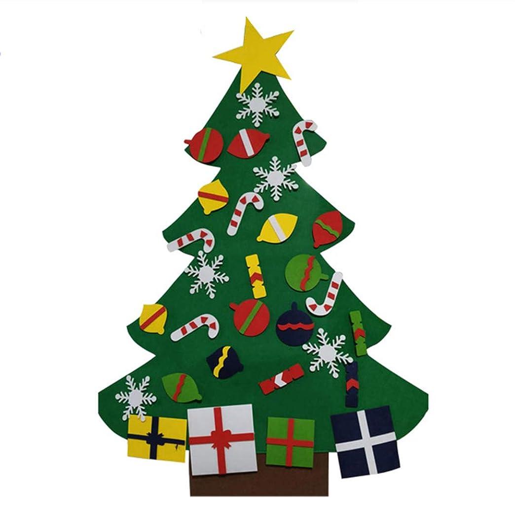 残り学士気味の悪いMAYouth フェルトクリスマスツリー クリスマス DIYは子供のためのクリスマスツリーの新年の家の装飾のギフトを感じました