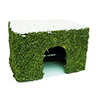 Unique edible christmas house for guinea pigs, rats and chinchillas. Coated inside and out with meadow hay, with a real coconut roof. 27cm x 20cm x 18cm Model number: 19499