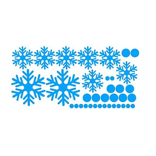 JIAHONG Pegatinas de pared de Adhesivos de pared azul de la noche de Navidad del copo de nieve de luz decorativos etiqueta, Hogar dormitorio de los niños etiqueta de la pared decorativo de la sala