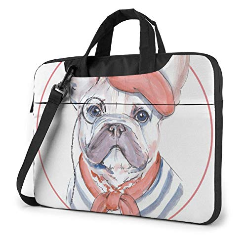Laptop Tote Bag, Cartoon Frenchie Durable Laptop Case Laptop Briefcase with Strap for 13/14/15 Inch Laptop/Notebook