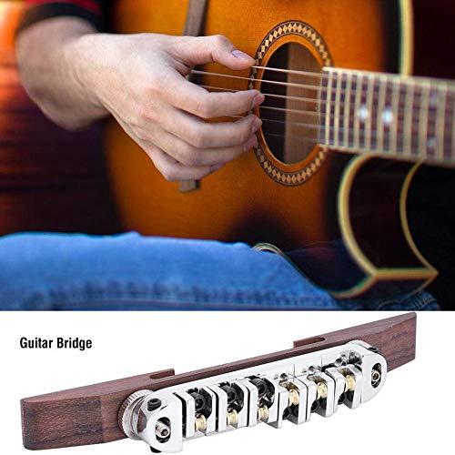 Guitar Brug Archtop Bridge Staartstuk Met Een Roller Zadels Palissander Zilver Snarige Gitaar Brug 6 Met Verstelbare Roller Remklauwen Voor JAZZGUITAR
