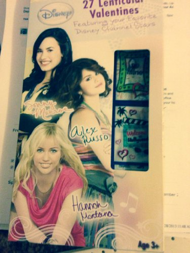 Valentine's Day Disney Tv Stars 27 Lenticular Valentine Cards - Hannah Montana, Alex Russo, Sonny Munroe