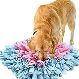 IEUUMLER Snuffle Mat para Perros Estera de alimentación Estera de Entrenamiento Manta para la Nariz Juguete de Juego IE075 (45x45cm, Yellow & Purple)