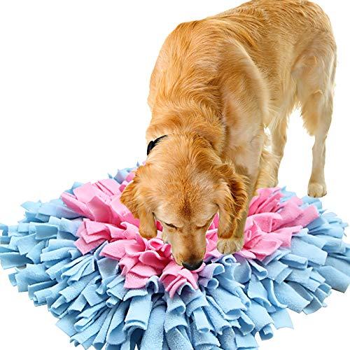 IEUUMLER Snuffle Mat para Perros Estera de alimentación Estera de Entrenamiento Manta para la Nariz Juguete de Juego IE075 (45x45cm, Blue & Yellow)