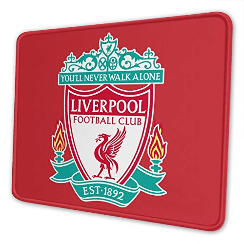 Football Club Logo Mouse Pad for Laptops Office Computer Mouse Pad Personalized Design Non Slip Rubber Mouse Mat
