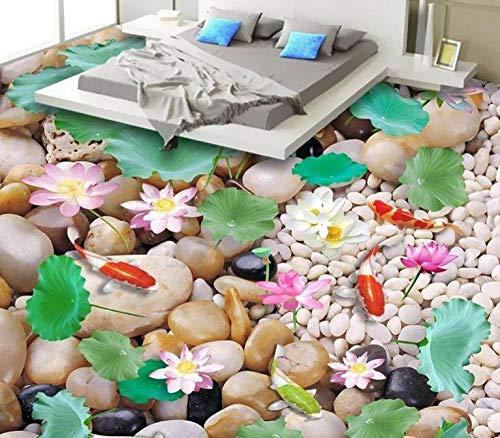 3D Vloer Mural Pebbles 3D Vloer Schilderen Waterdicht PVC Zelfklevende Behang Tegel Vloer Badkamer 200 x 140 cm.