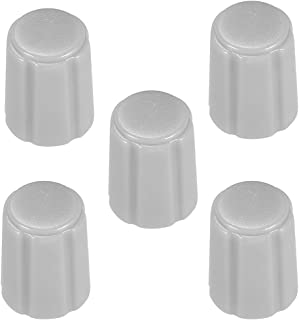 uxcell 5pcs,Potentiometer Control Knobs For Electric Guitar Acrylic Volume Tone Knobs Grey D type 6mm