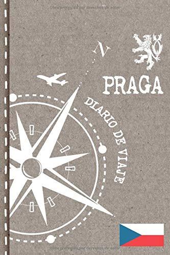 Praga Diario de Viaje: Libro de Registro de Viajes - Cuaderno de Recuerdos de Actividades en Vacaciones para Escribir, Dibujar - Cuadrícula de Puntos, Bucket List, Dotted Notebook Journal A5