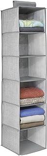 Interdesign 04623EU Aldo Rangement pour Penderie pour Vêtement Polyester Gris 29.9 cm x 29.9 cm x 127 cm