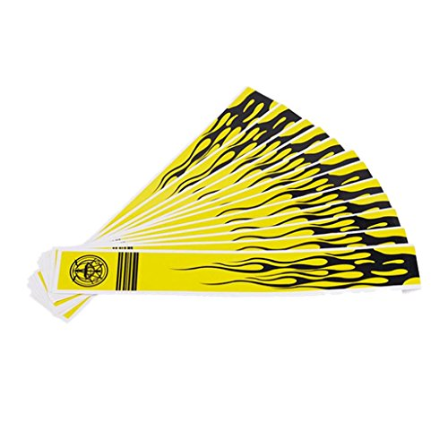 Homyl 12 x Pfeil Packungen Aufkleber Wraps für Bogenschießen Bogen Jagd - Fluoreszierendes Gelb