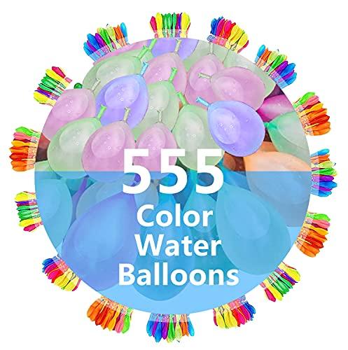 Water Balloons - 555 PCS, RQUKWRD Quick Fill Self Sealing Water Balloons...