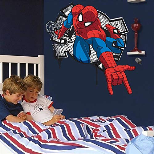 CVG 3D Effect Mini Spiderman Wall Stickers For Kids Rooms Boys Bedroom Home Decoration Cartoon Hero Movie Wall Decals PVC Mural Art