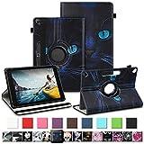 NAUC Tablet Tasche für Medion Lifetab E10430 E10604 E10412 E10511 E10513 E10501 Schutzhülle Universal Kunst-Leder Hülle 360 Drehbar, Farben:Motiv 6