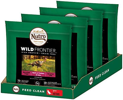 NUTRO Katzenfutter Trockenfutter Wild Frontier Adult 1+ Reich an Truthahn & Huhn, 4 Beutel (4 x 1.5kg)