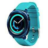 Fit-power - Correa de repuesto para reloj inteligente, de 20 mm, compatible con Samsung Gear Sport, Samsung Gear S2 Classic, Huawei Watch 2 Watch y Garmin Vivoactive 3