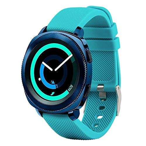Correa de repuesto para smartwatch de Fit-power de 20 mm, compatible con Samsung Gear Sport, Samsung Gear S2 Classic, Huawei Watch 2 Watch y Garmin Vivoactive 3