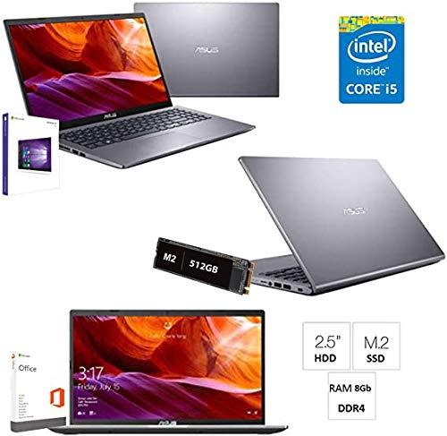 Notebook Asus i5-8265U/BGA 8th gen. hasta 3,4 Ghz Display LED 15.6' Cpu Intel Quad Core/Ram 8Gb DDR4/Ssd M2 512GB/INTEL UHD 620/Hdmi/Wifi/Bluetooth/WebCam/Windows 10 Professional/Open Office/Antivirus