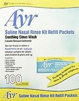 海外直送品Ayr Ayr Saline Nasal Rinse Kit Refill, 100 Packets