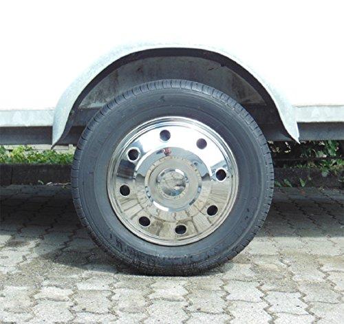 """Universelle Radzierblende gewölbt (1 Stück) Edelstahl 15"""" Zoll, passend für Wohnmobile, PKW, Transporter und Anhänger."""