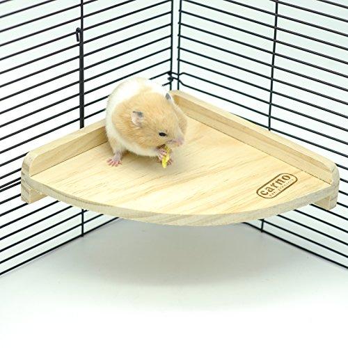 Niteangel Fan Shape Wooden Platform, Hamster Small...