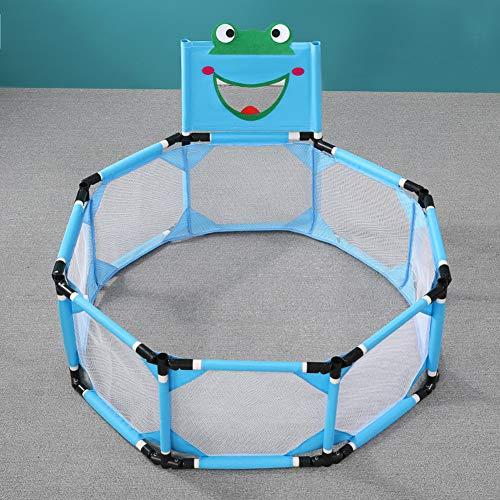 Kinderen S Box, Portable Opvouwbaar Binnen Thuis Amusement Park Veiligheid Van De Baby Peuter Fence Ouder-Kind Interactie Pool Tent Peuter Play Area,Blue