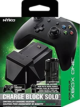 Nyko Charge Block Solo - Controller Charging Station with Rechargeable Battery Cover and included Micro-USB/AC Power Cord for Xbox One