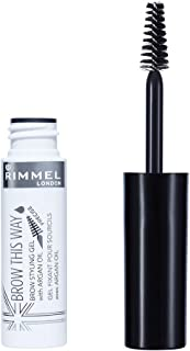 Rimmel Rimmel London, Brow This Way Eyebrow Gel with Argan Oil, Clear, 12.82 g