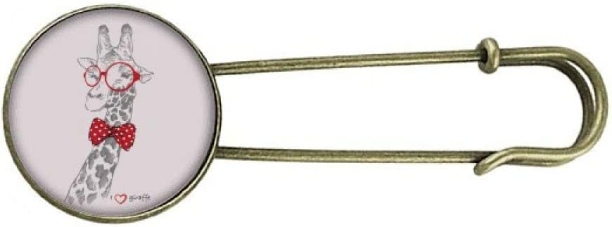 Glasses Giraffe Handsome Art Deco Gift Fashion Retro Metal Brooch Pin Clip Jewelry