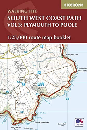 South West Coast Path Map Booklet - Plymouth to Poole: 1:25,000 OS Route Mapping (British Long Distance)