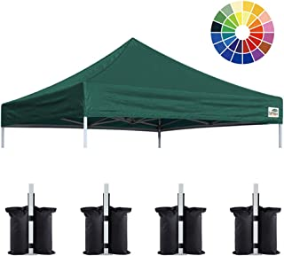 Eurmax New 10x10 Pop Up Canopy Replacement Canopy Tent Top Cover, Instant Ez Canopy Top Cover ONLY, Choose 30 Colors (Forest Green)