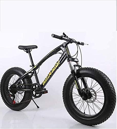 AISHFP Fat Tire Bicicleta de montaña para Hombre, Freno de Disco Doble/Bicicletas de Crucero, Bicicleta de Moto de Nieve en la Playa, Ruedas de 24 Pulgadas,F,24 Speed