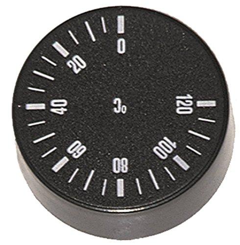 IMIT knevel voor vaatwasser voor thermostaat ø 42 mm symbool 0-120 °C voor as ø 6 x 4,6 mm met afvlakking -135 ° zwart