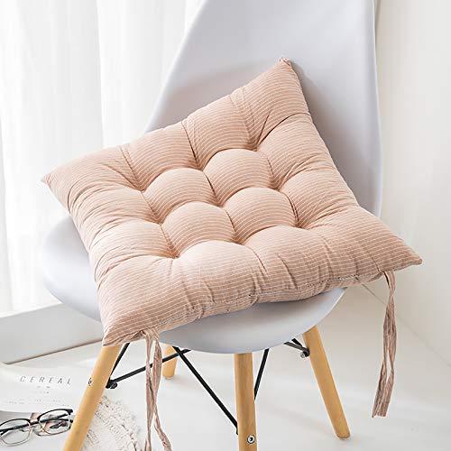 WZLJW Super Soft Seat Cushions Secure Ties Silla De Cena Cojín Lumbar Soporte Almohada Cuidado Fácil,Cojín De Silla De Escritorio Cuadrado-Color khat 50x50cm