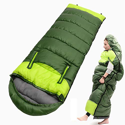 Camping 0 Degree Sleeping Bag - 32℉/0℃ Extreme Winter Sleeping Bags Warm & Cold Weather – Lightweight Waterproof for Adults & Kids - Backpacking, Traveling, Outdoor and Indoor