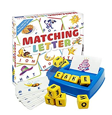 Matching Letter Game for Kids - Spelling Game for Learning Objects,  Teaches Word Recognition, Increases Memory - Educational Toy - Preschool/Kindergarten to Young Kid Activities, Ages 3,4,5,6,7