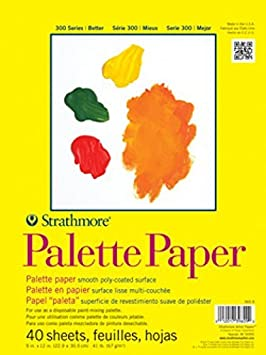 40 Sheets 9-inch x 12-inch Tape Bound Palette Pad
