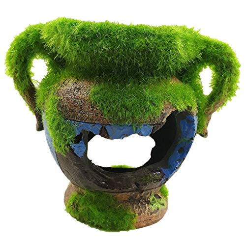 Carry stone Harz Moos Vase Fisch Dodge Garnelen versteckt Haus Aquarium Landschaft Dekoration Harz Aquarium Ornament