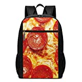 OMNVEQ Mochila Escolares Pizza de Pepperoni Fresca, Mochila Tipo Casual para Niñas Niños Hombre Mujer Mochila para Ordenador Portátil Viaje