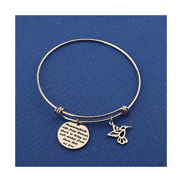HOLLP Hummingbird Keychain Free Bird Jewelry Humming Bird Lover Keyring Gift for My Love Wishes Jewelry Hope Gift