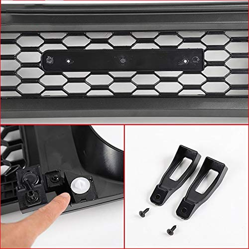 51r3yfK84JL - LMDC Front Grill Grill Racing, Auto Front-Grill-Grill Honeycomb Ineinander Greifen-Abdeckung Racing Grill Zubehör Gepasst Fit for Suzuki Jimny 2019 2020 (Color : Black)