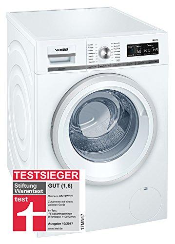 Siemens iQ700 WM14W570 - Lavadora (8,00 kg, A+++, 196 kWh, 1400 rpm, programa de lavado rápido, función de relleno)
