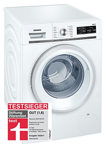 Siemens wm14W570Front Loading 8kg 1360rpm A + + + White–Washing Machine (Drum Front, White, Buttons, Touch, Left, LED, 171°)