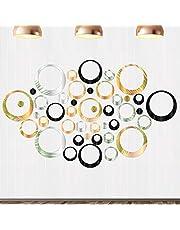 72 stuks ronde spiegel-muursticker, zelfklevende wandtattoo, 3D-spiegel, wandtattoo voor slaapkamer, woonkamer, huisdecoratie