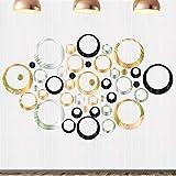 Adesivo circolare a specchio, 72pz Adesivi murali Specchio per...