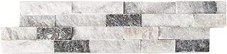 Harbor Gray Marble Stacked Stone Ledger Panel - Splitface - 6″x24″x5/8