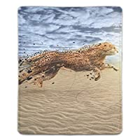 マウスパッド 光学式マウス対応 防水 滑り止め生地 軽量 耐久性 携帯便利 動物デジタルアートNature Leopard ノートパソコン用 オフィス用
