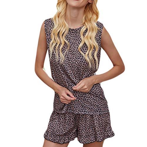Hffan Women Print Pyjamas Trainingsanzug Sets Wear Lounge Wear Anzug Home Tops + Hosen