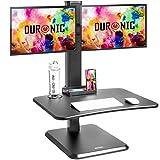 Duronic DM05D15 Estación de Trabajo para 2 Monitores con Altura Ajustable de 17...